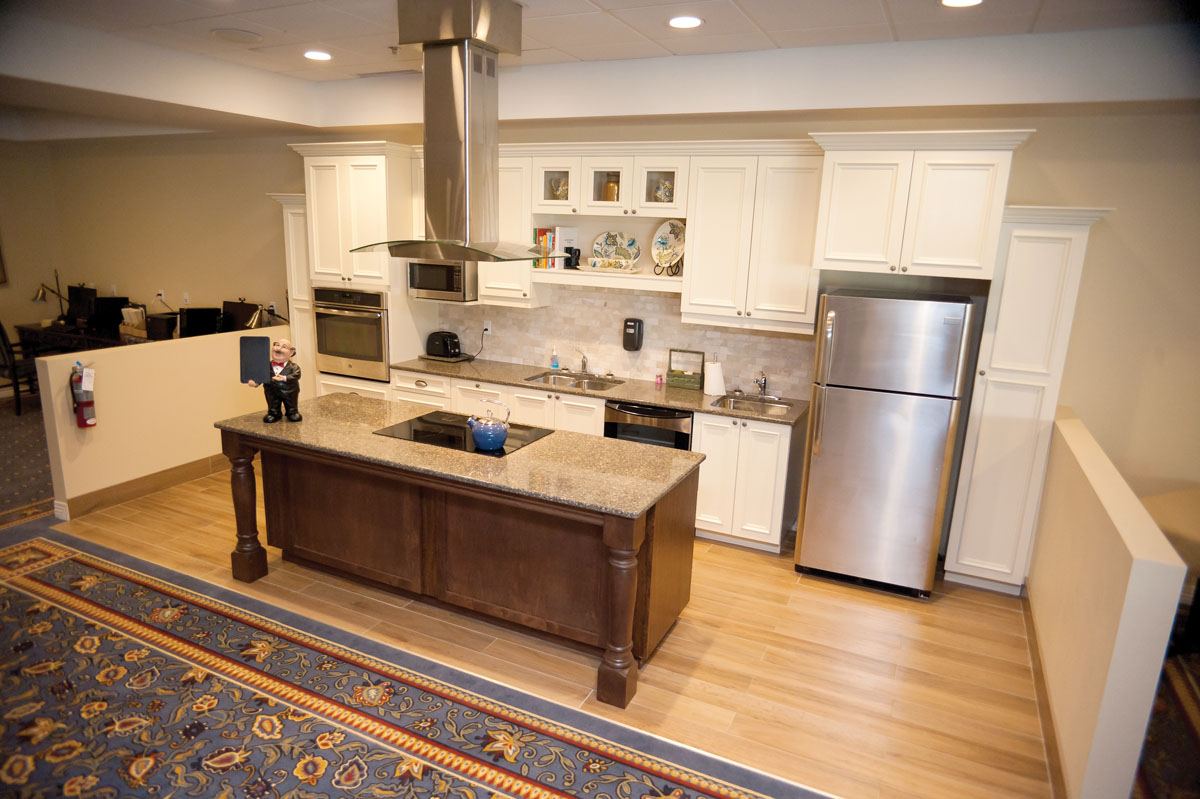 Kitchen at Oaks Retirement Village in Wallaceburg